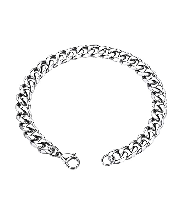 Silver Chain bracelet 12mm