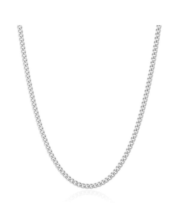 Silver Cuban Stainless necklace