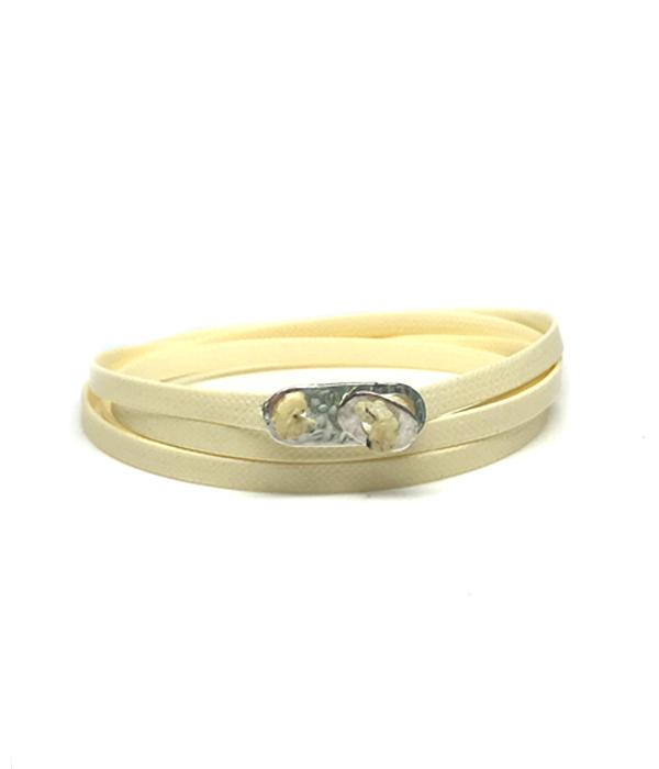 Cream Wrap bracelet 925