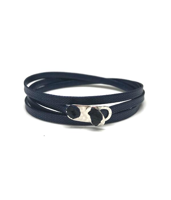 Navy Wrap bracelet 925