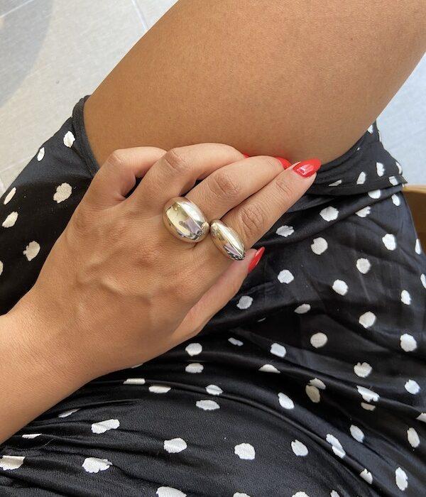 Silver Medusa & Osian Rings 925