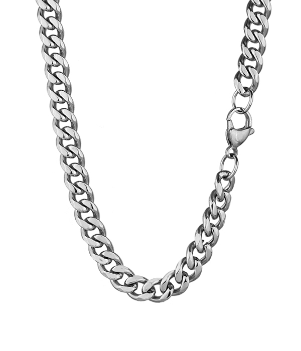 Silver Steel Necklace Chain