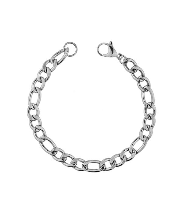Silver Steel bracelet chain