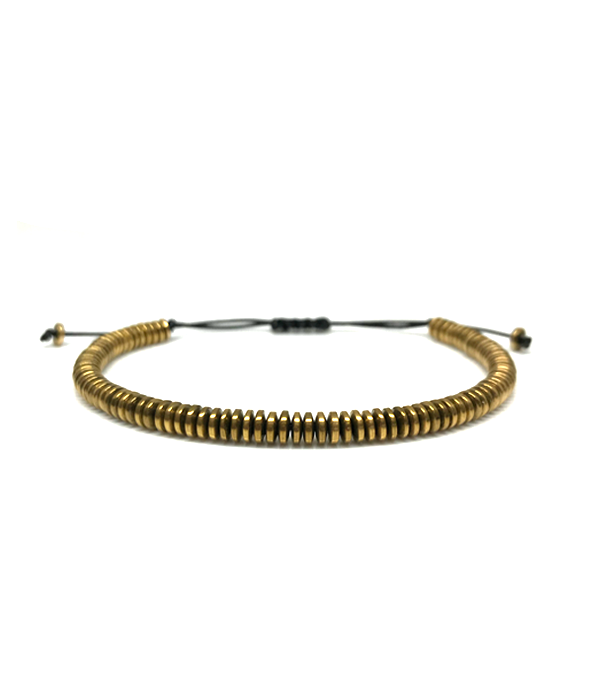 Gold Disc Hematite bracelets
