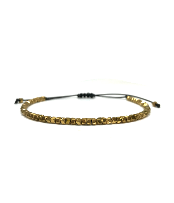 Gold Hematite mini disc bracelet