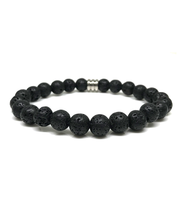 black lava stones bracelet 8mm