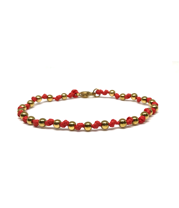 handmade bracelets with gold stones slim line