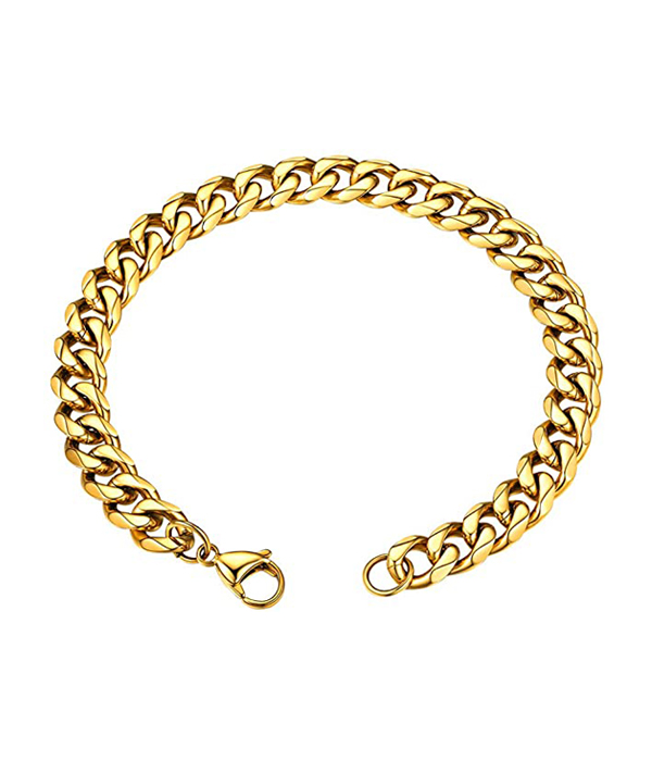Gold Chain bracelet 12mm