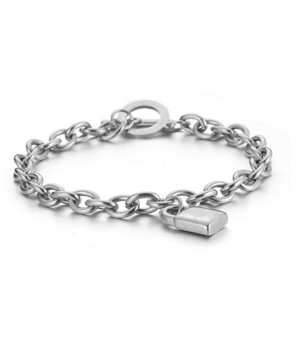 Padlock Silver bracelet Stainless