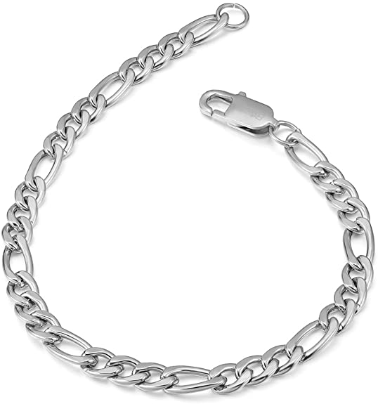 Silver Figaro Bracelet 5mm