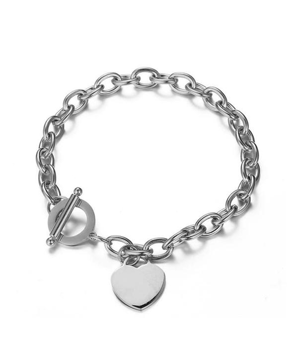 Silver Oval link chain bracelet