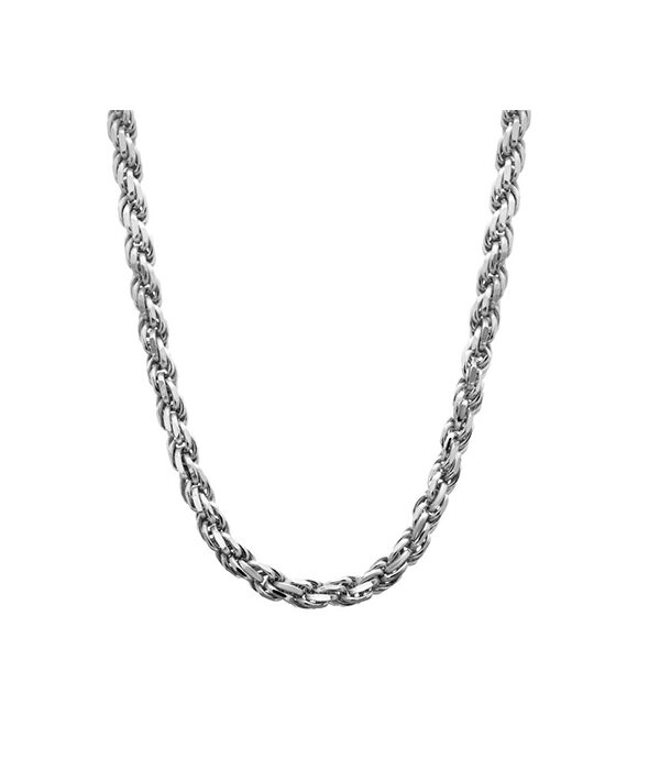 Silver Rope Chain Necklace 4mm
