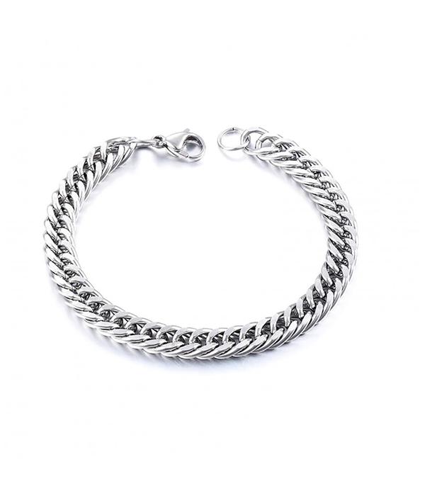 Silver Twister chain bracelet