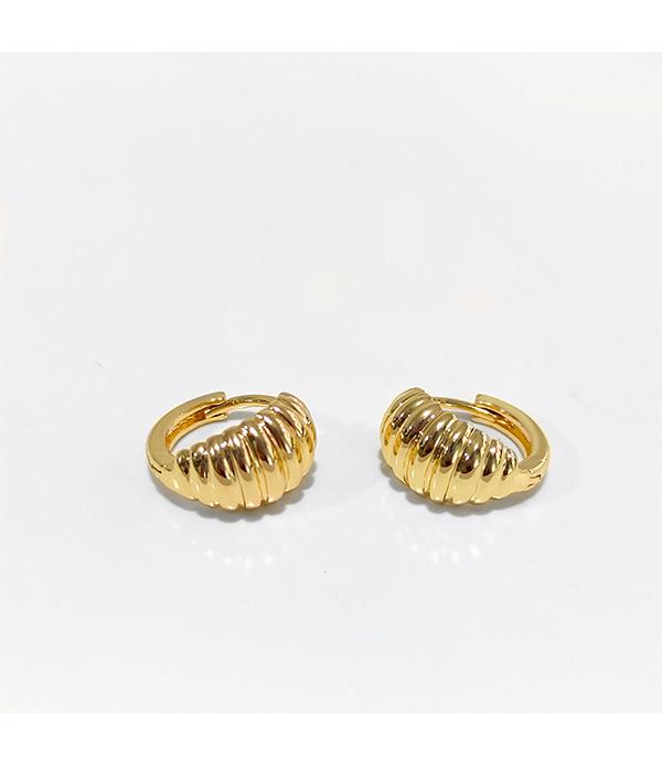 Mini Croissant Hoop Earrings