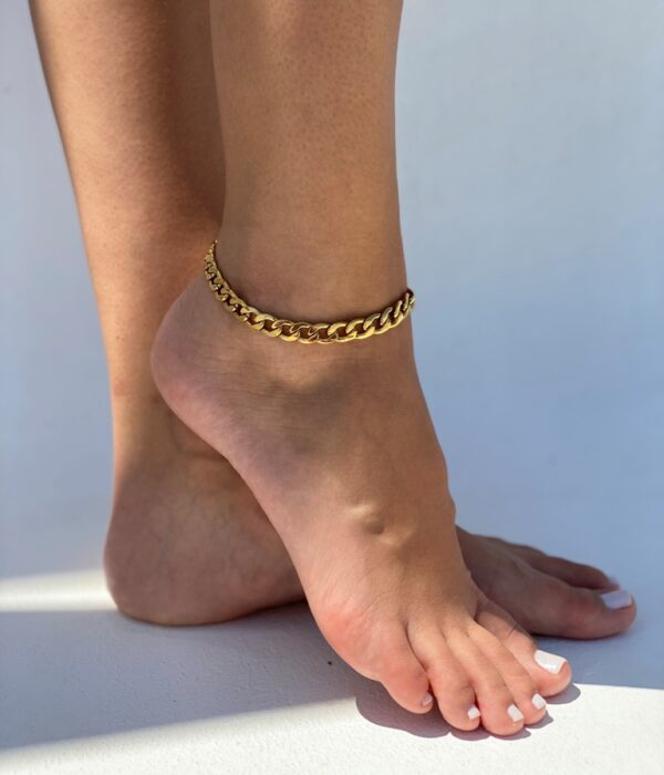 Gold Chunky Anklet