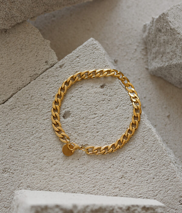 Gold Chunky Anklet (Waterproof)