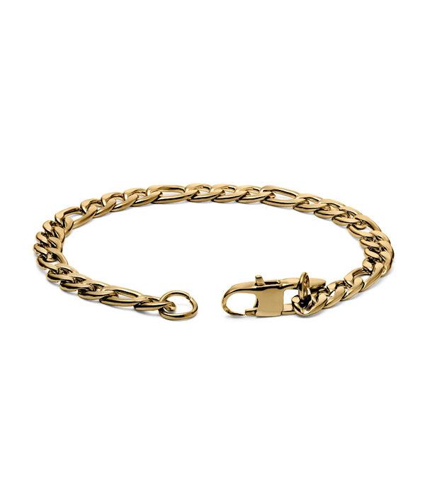 Gold Figaro Bracelet 5mm (Mens)