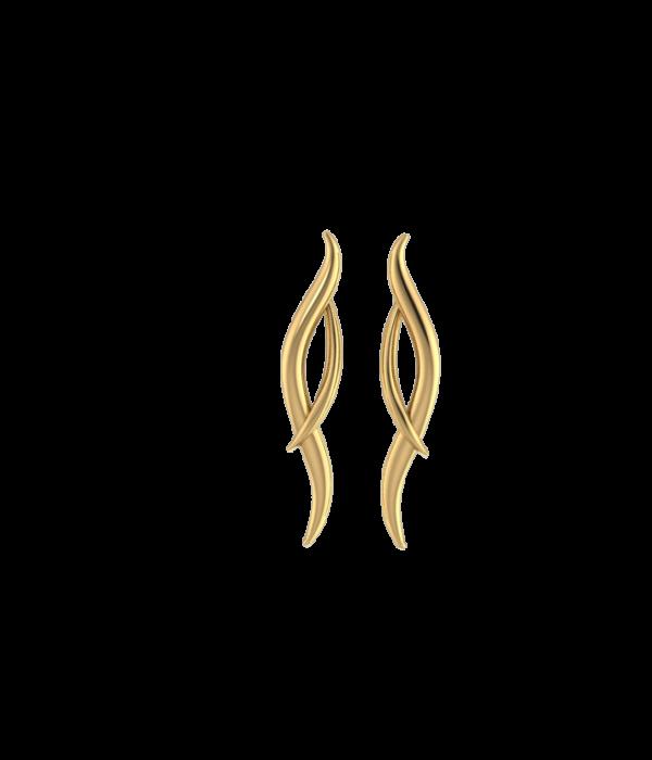 Gold Hermes Earrings