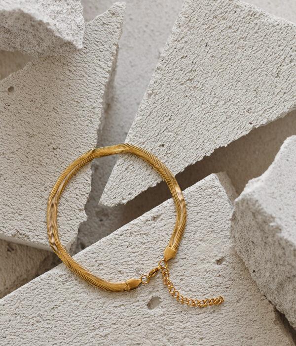 Gold Snake Anklet (Waterproof)
