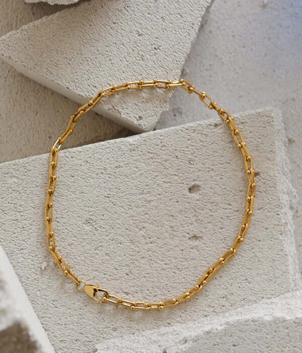 Gold prison stainless chain 24k