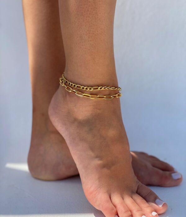 Set of 2 Gold Anklets Ambrosia