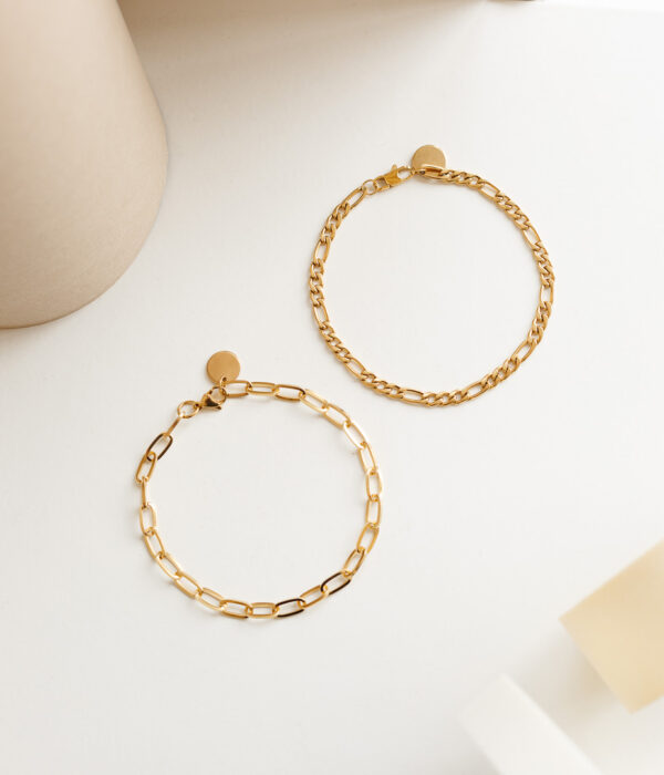 Set of 2 Gold Anklets Ambrosia (Waterproof)