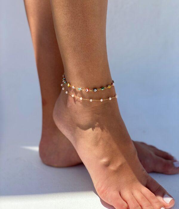 Set of 2 Gold Anklets Nephele