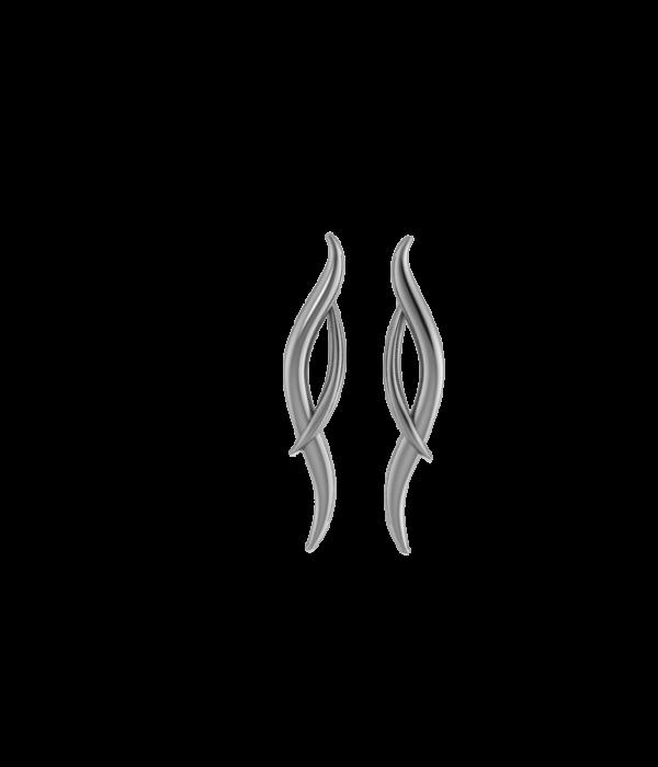 Silver Hermes Earrings