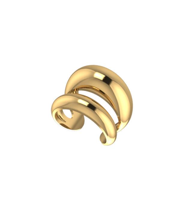 Gold Fedra Ring 24k 925