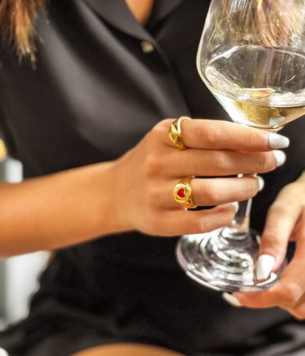 Gold Heart Ring chevalier