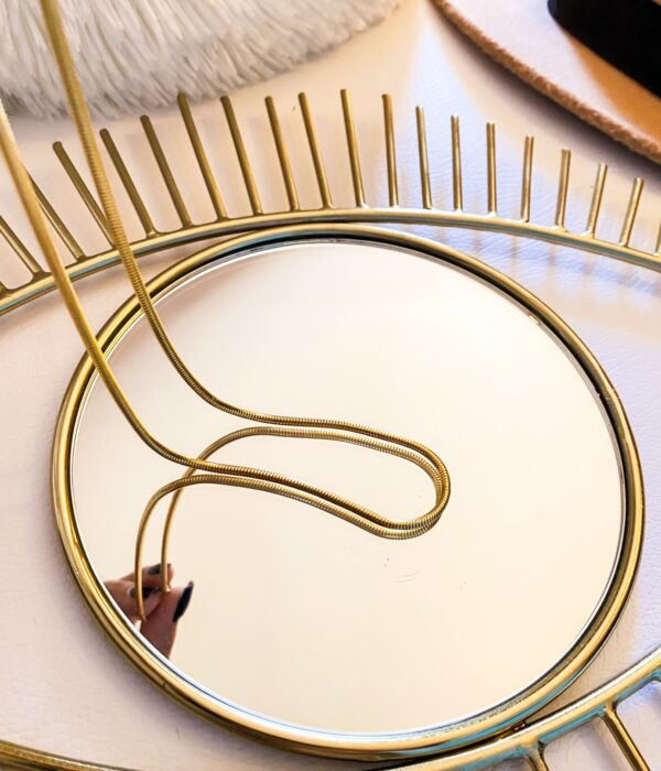 Gold Snake Stainless Necklace