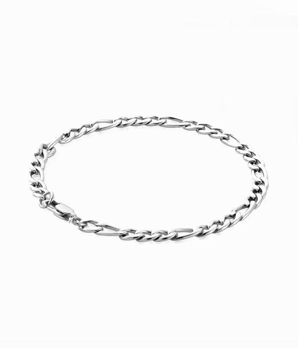 Silver Chain Figaro bracelet