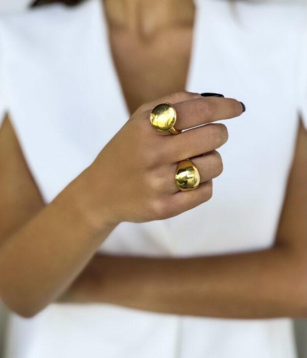 Gold Fiorella & Selena Rings 24k
