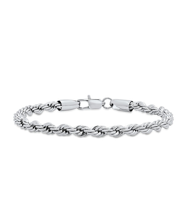Rope Silver bracelet 6mm (Stainless)