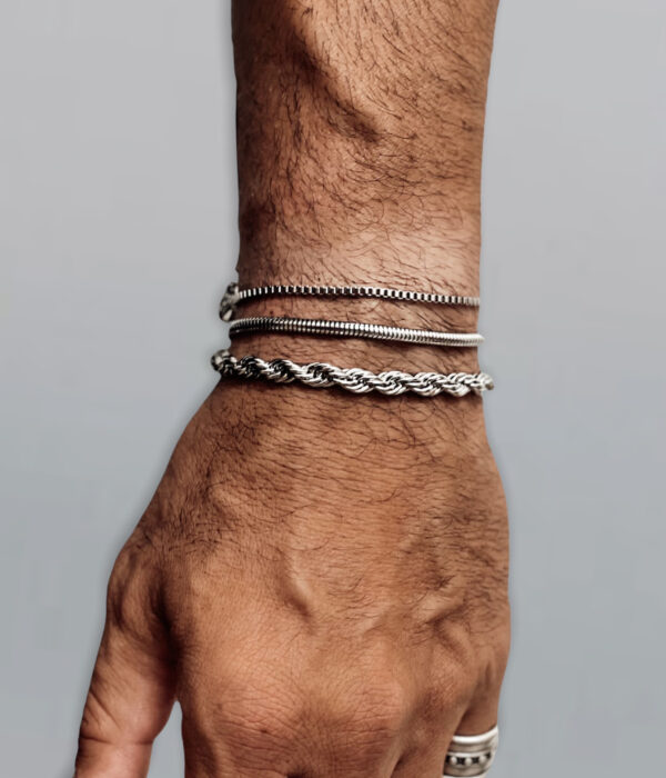 Rope X Snake X Venetian Stainless chains