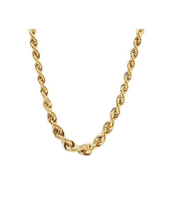 Gold Rope chain necklace 4mm