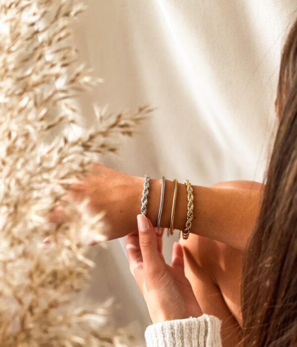 Rope & Snake stainless bracelets