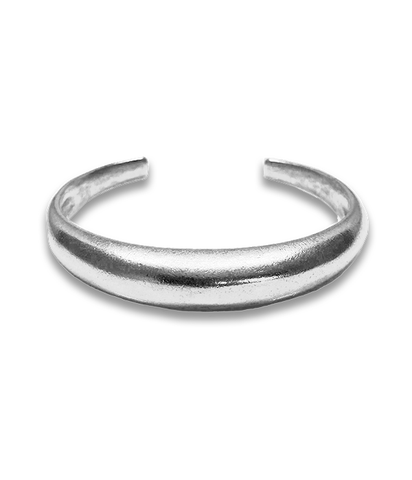 Silver Dome cuff bracelet